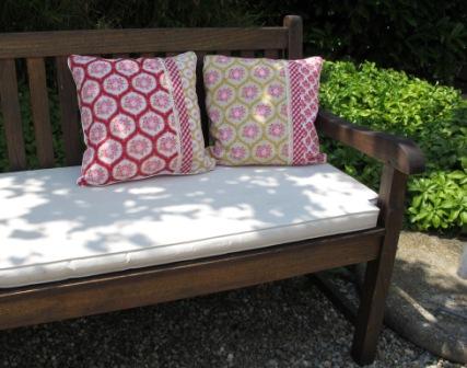 sofakissen dekokissen 40 x 40 rot rosa senf gelb karo Rosen Mumflower Paspel Keder